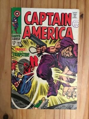 Captain America #108  Marvel 1968 Kirby Grade VG