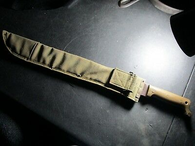 1945 U. S. Military Machette True Temper w/ 1944 Canvas Scabbard