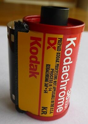 Unexposed Kodachrome 35mm film for colour slides 36 exposure