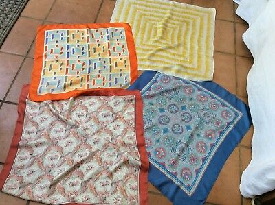 Liberty London. 4  Vintage Silk Scarf -1930's/1950's Unusual Abstract Designs