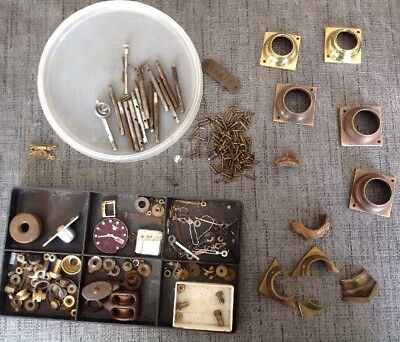 Antique Clock Parts Column Base Rivets Etc From Clockmakers Spares Collection
