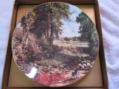 "Crown Staffordshire Collectors plate John Constable ""Valley Farm"""