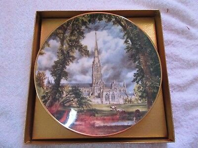 "Crown Staffordshire Collectors plate John Constable ""Salisbury Cathedral """