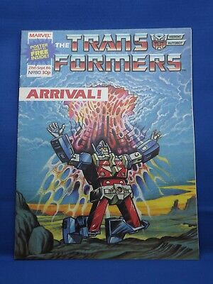 Marvel The Transformers UK Weekly Comic #80  27th Sept 1986 with Free Poster