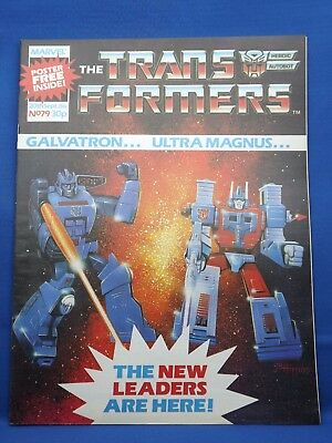 Marvel The Transformers UK Weekly Comic #79  20th Sept 1986 with Free Poster