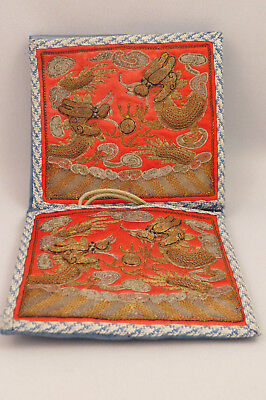 Rare Late19Th/early 20Th C Chinese Silk Embroidered Bride's Purse