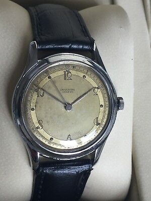 Vintage 1940s UNIVERSAL GENEVE Art Deco Manual Wind Men's Watch Rare&Collectible