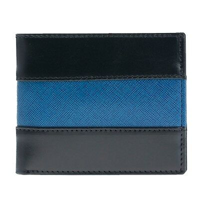 Police Thin Blue Line Leather Bi-fold Wallet