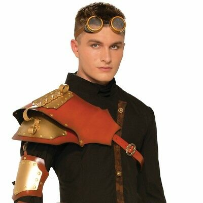 Adult size Male Steampunk Shoulder Armor - Costume Accessory fnt