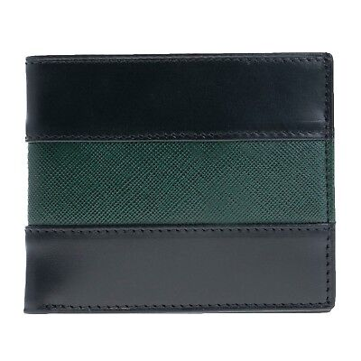 Military Thin green Line Leather Bi-fold Wallet