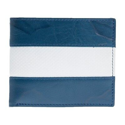EMS Thin White Line & Blue  Leather Bi-fold Wallet