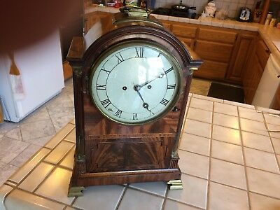 Antique English Fusee Bracket/ Mantle Clock