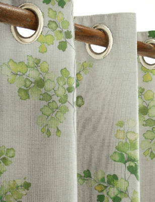 NEXT HOME GREEN COUNTRY SPRIG PRINT FULLY LINED EYELET CURTAINS 168x229cm