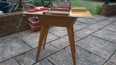 Vintage stylish small re-purposed card/games table with storage & vintage games
