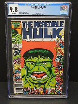 Marvel Comics Incredible Hulk #325 1986 Cgc 9.8 White Pages Geiger/mcleod Art
