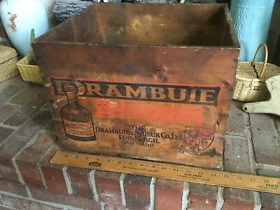 Vintage Drambuie Liqueur Wood Crate Scotch Whiskey Scotland Louisville Kentucky