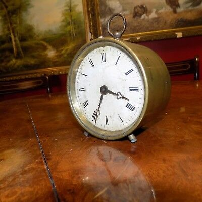Antique French 8-day Medaille 1885 desk clock/carriage clock