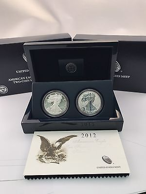2012 American Silver Eagle San Francisco Two-Coin Proof Set U.S.Mint