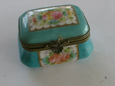 "Lemoges Porcelain Box Old For The Collector, 2-1/2"" Wide By 1-3/4"" Inches"