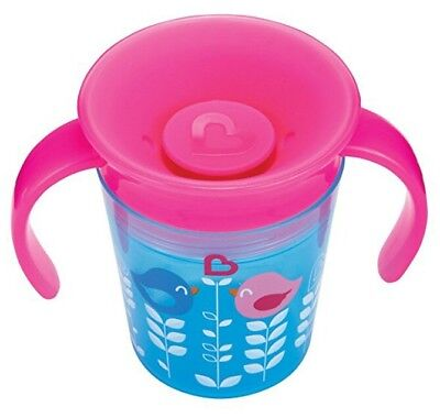 Munchkin Miracle 360 Degrees Deco Trainer Cup 6oz BLUE BIRD No non Spill Beaker