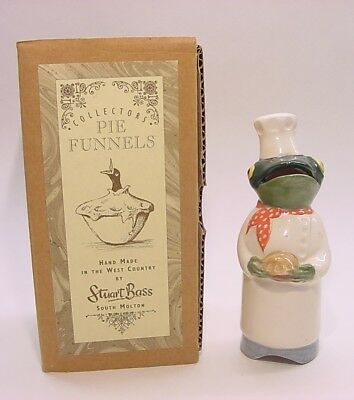 Stuart Bass Pie Bird Funnel Vent * Frog Chef holding pie - with BOX discontinued