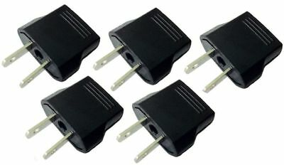 (5PC) Set Travel Adapter AC Flat Jack from 220V to 110V Plug Europe Asia to US
