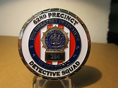 NYPD 62nd Precinct Detective Sqd Home to More Hits Than Sinatra Challenge Coin