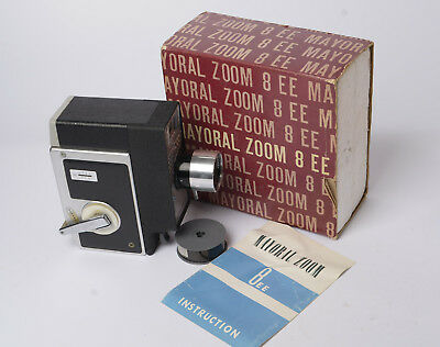 Mayoral 8EE Standard 8mm Cine Camera + Box Instructions + 8mm film to play with
