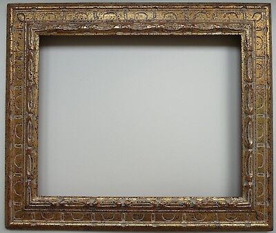 """Modernist mid century frame, hand carved, gilded, for 16"""" by 20"""""""