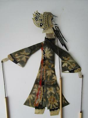 Vintage Fine Leather Chinese Small Shadow Stick Rod Puppet # 3