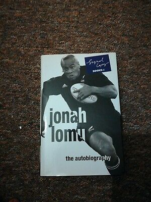 Jonah lomu signed Book