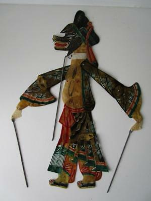 Vintage Fine Leather Chinese Small Shadow Stick Rod Puppet # 4