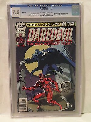 Daredevil #158 CGC 7.5 - 1st Miller on title! Bronze Age classic