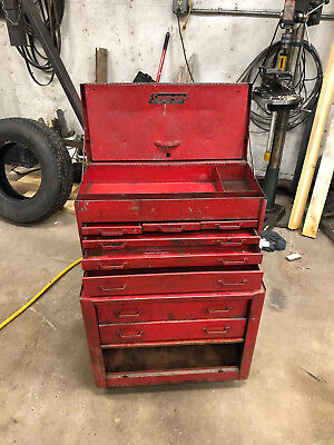 vintage 1946 snap on tool box and roller cabinet combo
