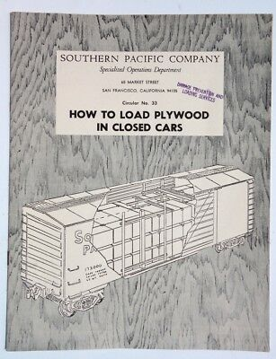 1950s'/60's Southern Pacific Publication. Loading Plywood in Closed Cars