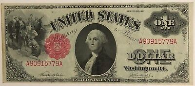 1917 $1 Dollar Red Seal US Legal Tender Note - Large Size - Excellent Condition