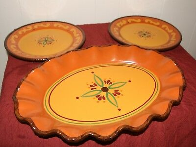 Celebrating Home tuscan platter ,and 2 plates, excellent condition no chips