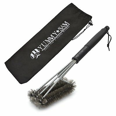BBQ Grill Brush Outdoor Barbecue Cleaning Scraper Cleaning Tool - 18'' Hea..