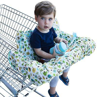 Shopping Cart Cover for Baby or Toddler - 2-in-1 High Chair Cover - Best 100% -