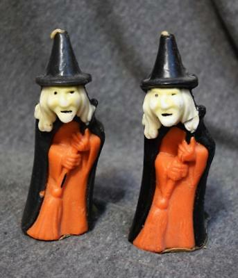 Vintage Gurley Novelty Co. Halloween Witch Candle Pair Unused