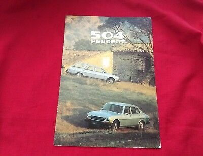 Vintage 504 Peugeot Dealer Sales Brochure 1979 pre-owned