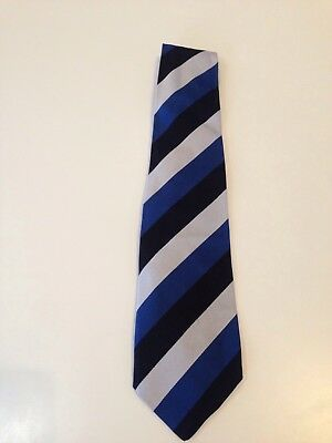 Classic Blue Black & White Bath Rugby Tie