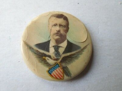 Teddy Roosevelt Presidential Pin Back Button President Campaign Political Badge