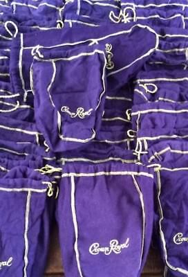 Lot 6 (Large - Size) Crown Royal Purple Bags (New) Just Removed From New Boxes.
