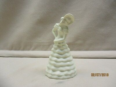 Gouda cream sculpture of a lady marked Royal Zuid-Holland, height 6 inch.