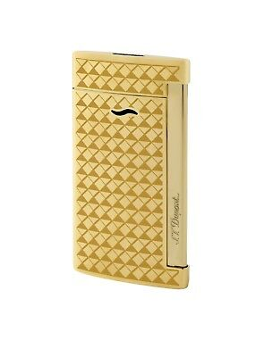 S.T. Dupont Gold Slim 7 Lighter With Fire Head Design, ST027715 (27715), NIB