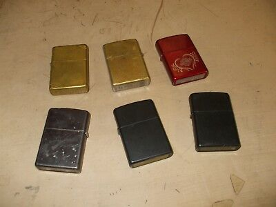 a lot of some Zippo lighters