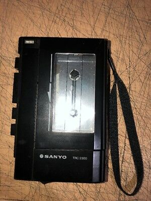 Vintage Sanyo Trc-2300 Portable Tape Cassette Walkman Player Recorder