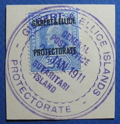 1911 GILBERT AND ELLICE ISLANDS 2 1/2d SCOTT# 4 S.G.# 4 USED             CS03542