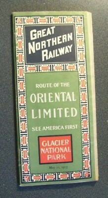 Gn Great Northern Rwy - Public Time Table - May 11, 1913